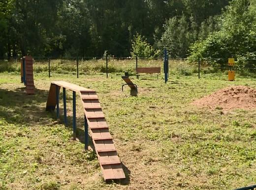 В Реадовском парке создали площадку выгула собак
